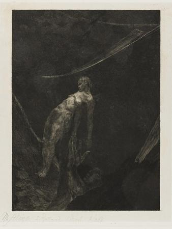 Back into Nothingness, plate fifteen from A Life, 1884 by Max Klinger