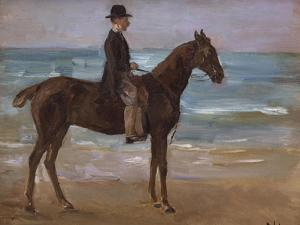 A Rider on the Shore by Max Liebermann