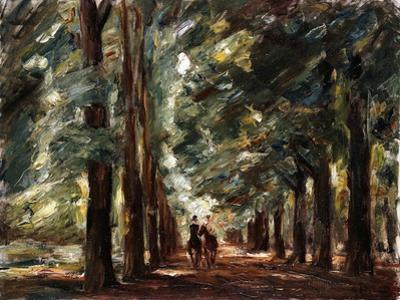 Avenue in Sakrow with Two Riders; Allee in Sakrow Mit Zwei Reitern, C.1923 by Max Liebermann