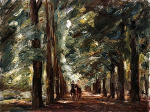 Avenue in Sakrow with Two Riders; Allee in Sakrow Mit Zwei Reitern, C.1923 by Max Liebermann