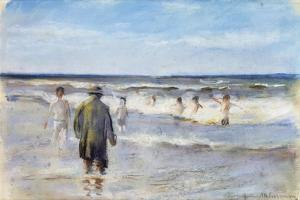 Bathers on the Seashore by Max Liebermann