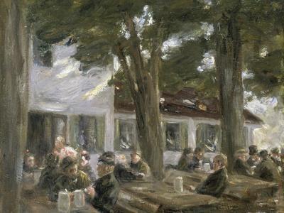 Beer Garden in Brannenburg, 1896