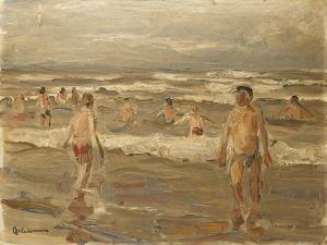 Boys Bathing in the Sea; Badende Knaben Im Meer, 1899 by Max Liebermann