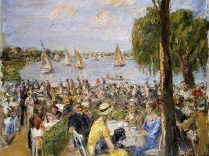 Garden Cafe by the Wannsee; Gartencafe Am Wannsee by Max Liebermann