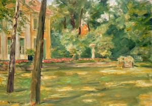 Garden Scene by Max Liebermann