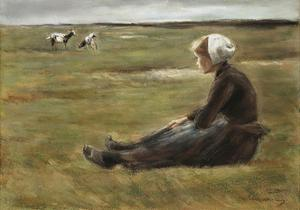In the Field, C1890 by Max Liebermann