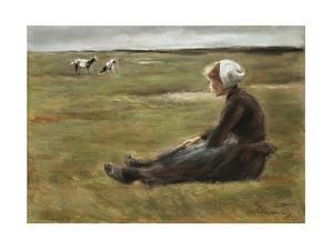 In the Field, C1890 by Max Liebermann