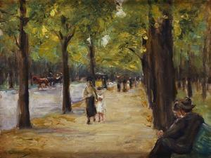 In the Tiergarten, Berlin, C.1920 by Max Liebermann