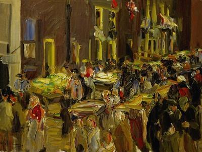 Jodenbreestraat (Jew's Street) in Amsterdam, 1905