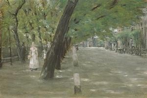Kirchenallee in St. Georg, Hamburg by Max Liebermann
