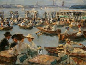 On the Alster in Hamburg, 1910 by Max Liebermann