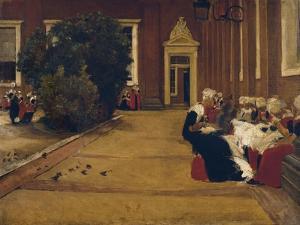 Orphan Girls in Amsterdam, 1876 by Max Liebermann