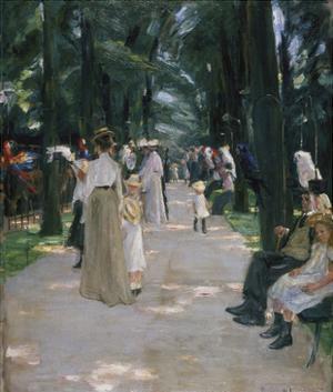 Papageienallee, 1902 by Max Liebermann