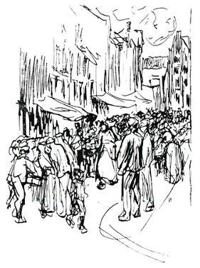 Pen and Ink Study, C19th Century by Max Liebermann