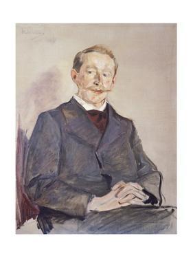 Portrait of Dr Max Linde by Max Liebermann