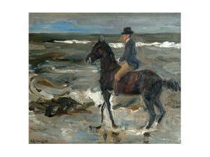 Rider on the Beach by Max Liebermann