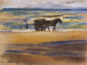 Shell Seekers on the Beach by Max Liebermann
