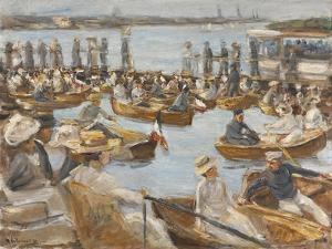 Summer Evening on the Alster-River, Hamburg by Max Liebermann