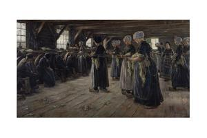The Flax Barn at Laren, 1887 by Max Liebermann