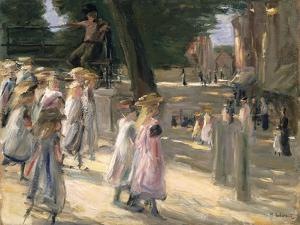 The Road to the School at Edam by Max Liebermann