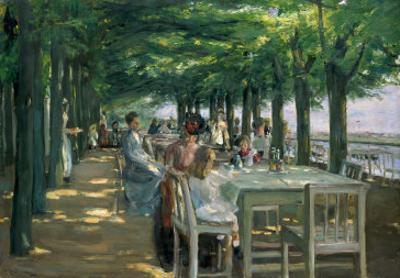 The Terrace at the Restaurant Jacob in Nienstedten on the Elbe, 1902 by Max Liebermann