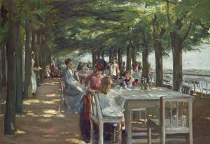 The Terrace at the Restaurant Jacob in Nienstedten on the Elbe River, 1902 by Max Liebermann