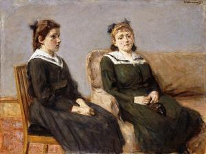 The Two Sisters Leder; Die Zwei Schwestern Leder, 1911 by Max Liebermann