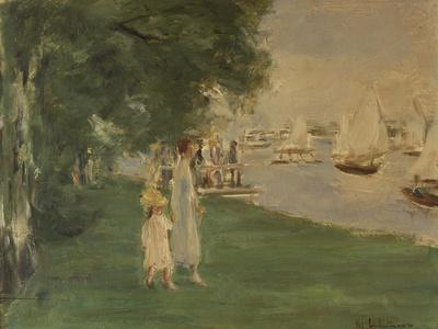 The Yacht Race. Landscape of Wannsee, 1924