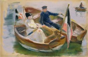 Two Boats with Flags, Wannsee, 1910 by Max Liebermann