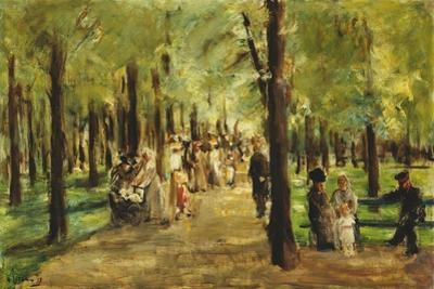 Walkers in the Tiergarten; Spazierganger Im Tiergarten, 1918 by Max Liebermann
