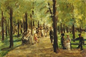 Walkers in the Tiergarten; Spazierganger Im Tiergarten, 1918 by Max Liebermann