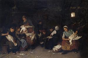 Women Plucking Geese, 1872 by Max Liebermann