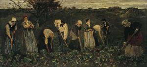 Workers on the Beet Field by Max Liebermann
