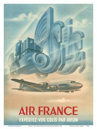 France - Ship Your Parcels By Plane (Expédiez Vos Colis Par Avion)