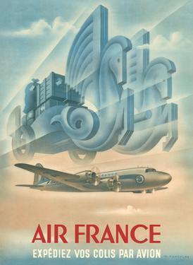 France - Ship Your Parcels By Plane (Expédiez Vos Colis Par Avion) by Max Ponty