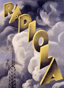 Radiola RKO Radio Station by Max Ponty
