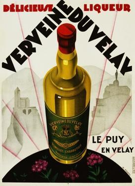 Verveine Duvelay Liqueur Advertisement Poster by Max Ponty