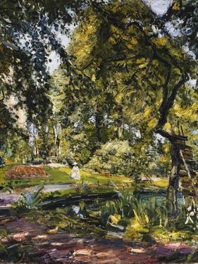 Garden in Godrammstein with a Twisted Tree and Pond; Garten in Godrammstein Mit Verwachsenem Baum… by Max Slevogt