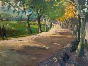 Road in Godramstein, 1909 by Max Slevogt