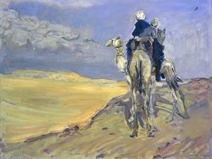 Sandstorm in the Libyan Desert, 1914 by Max Slevogt