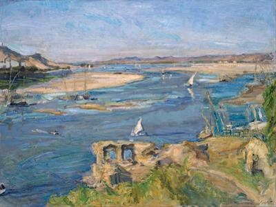 The Nile Near Aswan, 1914 by Max Slevogt