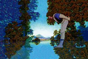 Knave and Frog by Maxfield Parrish