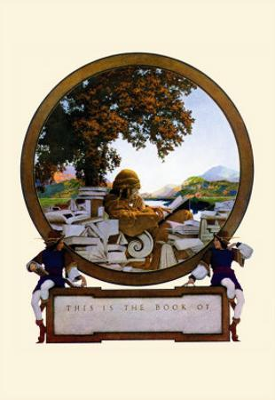 Nameplate by Maxfield Parrish