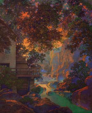 Old Oak Glen by Maxfield Parrish
