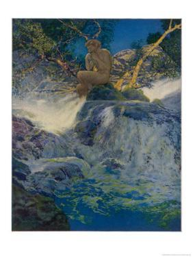 Pan by a Stream by Maxfield Parrish