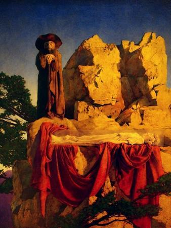 Scene from Snow White by Maxfield Parrish