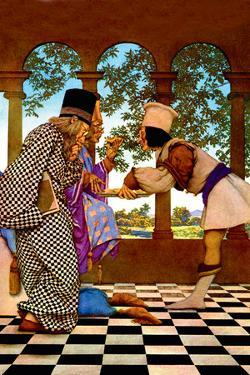The Chancellor and the King Sampling Tarts by Maxfield Parrish