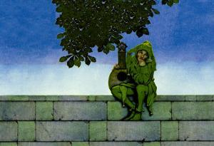 The Green Jester by Maxfield Parrish