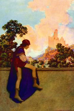 The Knave Watching Violetta Depart by Maxfield Parrish