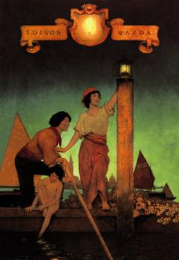 Venetian Lamplighters by Maxfield Parrish